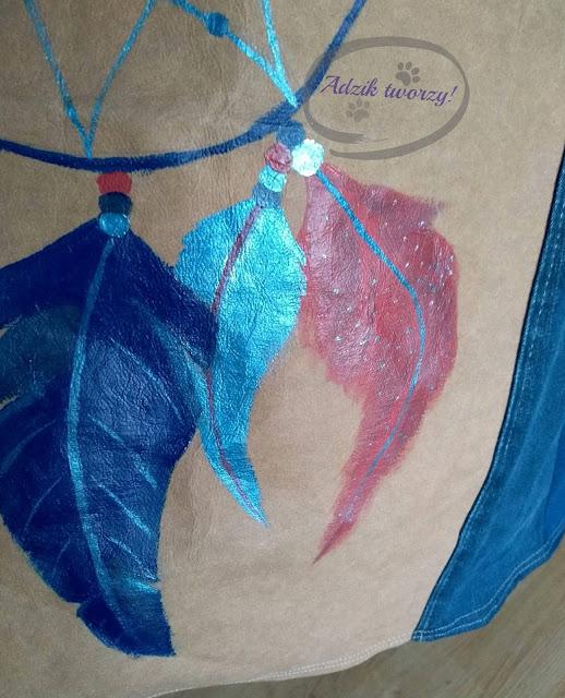 Adzik tworzy - łapacz snów malowanie DIY farbami do tkanin