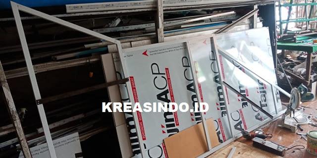 Lemari Bawah Tangga Aluminium dan Kitchen Set Aluminium pesanan Bpk Leman di Cengkareng