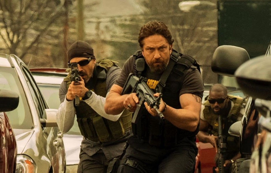 "Gerard Butler persegue assaltantes de bancos no trailer de ""Den of Thieves"""