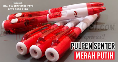 jual Pulpen Senter Merah Putih, Pulpen senter 17 agustusan, Souvenir Kemerdekaan