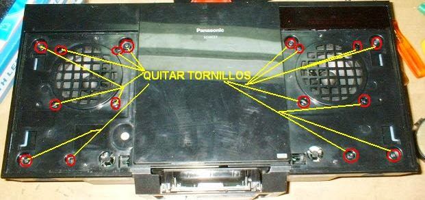 desarme o despiece del componente de audio panasonic sc-hc27