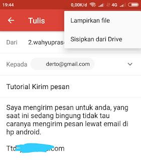 Cara Mengirim Pesan Email Lewat Hp