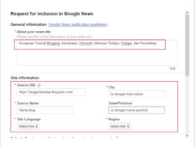 Cara Mendaftar Google News untuk Situs Web