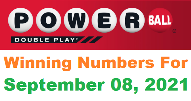 PowerBall Double Play Winning Numbers for September 08, 2021