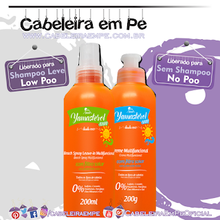 Spray (Low Poo) e Creme (No Poo) Yamasterol Sun