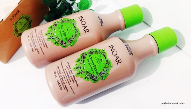 Macadâmia Oil Premium da Inoar Shampoo e Condicionador
