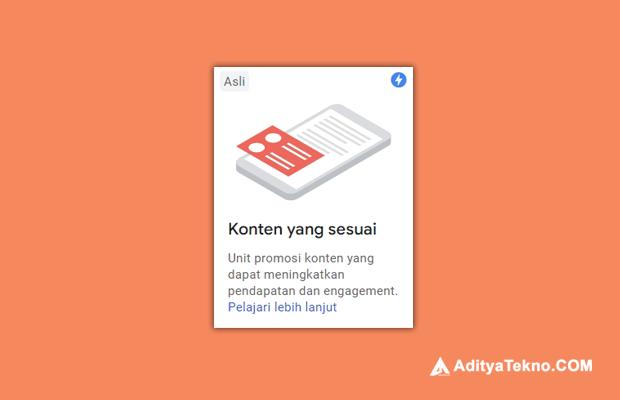 Cara Mendapatkan Iklan Matched Content Google AdSense