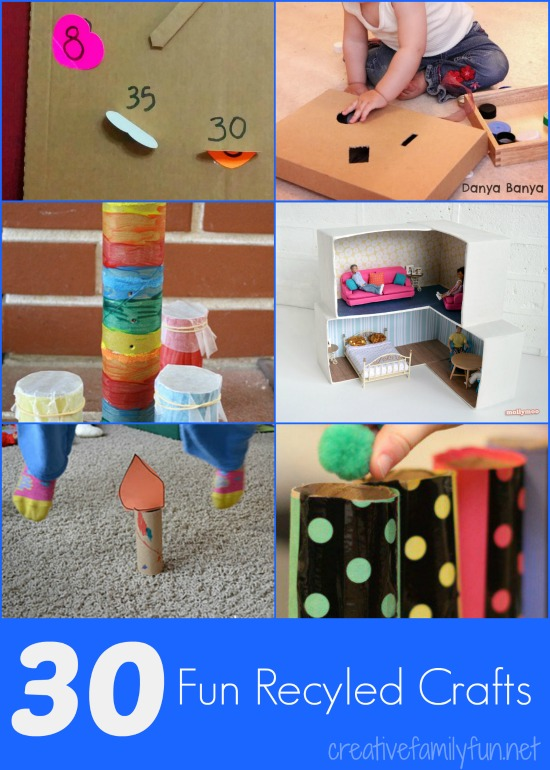 Creative family fun 30 fun recycled crafts for Cool recycling projects