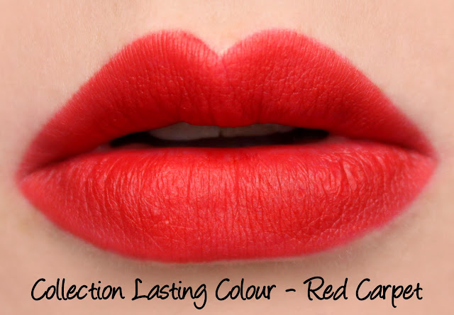 Collection Lasting Colour Lipstick - Red Carpet swatches & review