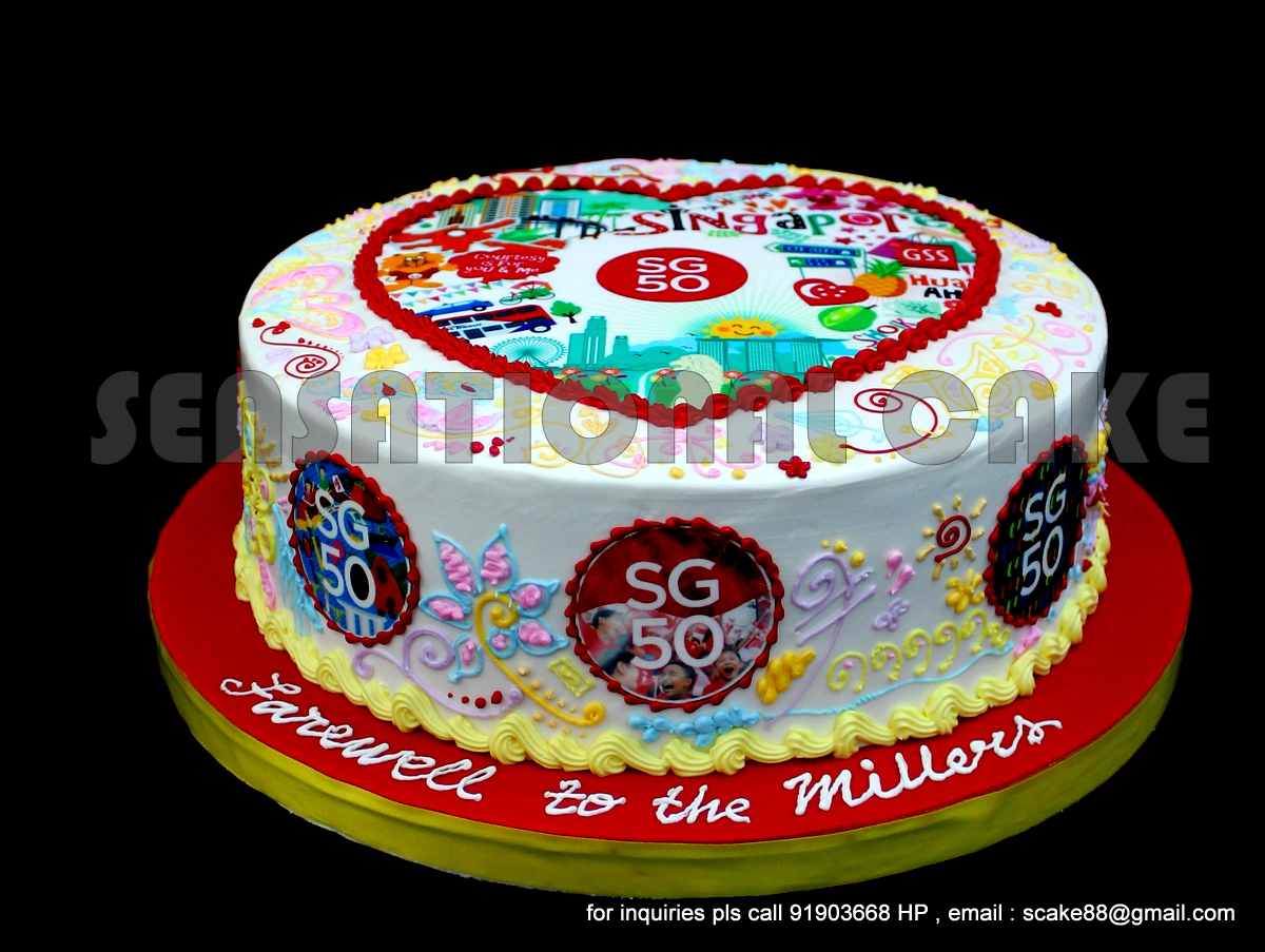Cakes2share Singapore Best Looking Sg50 Cake Singapore