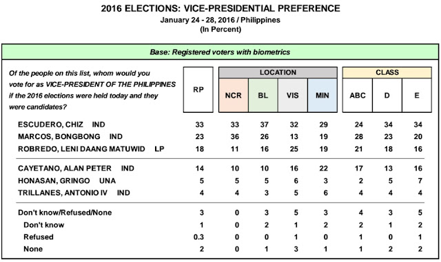 VP race Pulse asia survey