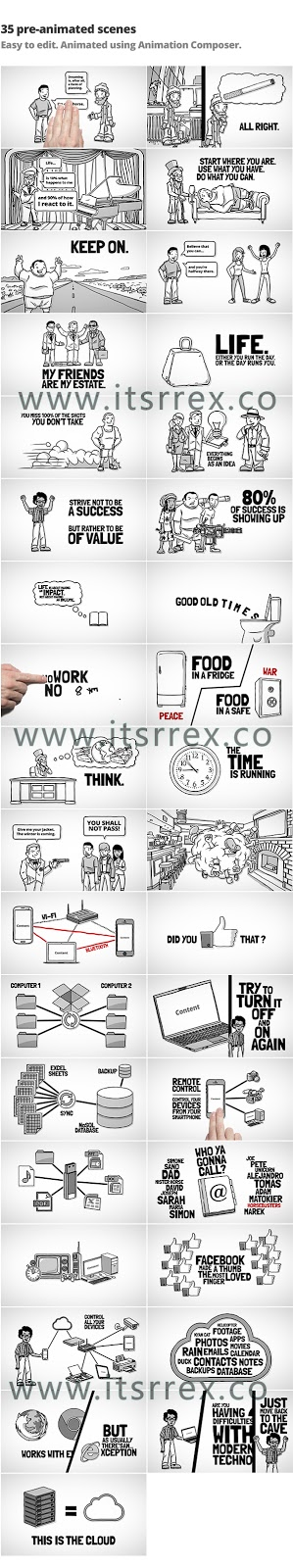 Videohive Whiteboard Kit – Make Your Own Story After Effect Free Download