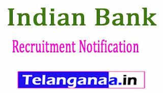 Indian Bank Recruitment Notification 2017