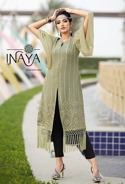 Inaya LPC 58 top with Cigarette pant catalog