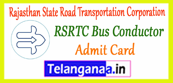 RSRTC Rajasthan State Road Transportation Corporation Conductor Admit Card 2017 Answer Key Expected Cut Off