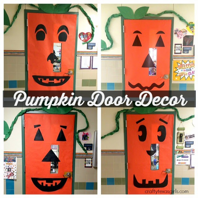 Crafty Texas Girls: Pumpkin Door Decoration