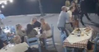 Η στιγμή που ο υπεύθυνος εστιατορίου στην Κρήτη σώζει πελάτη από πνιγμό (Βίντεο)