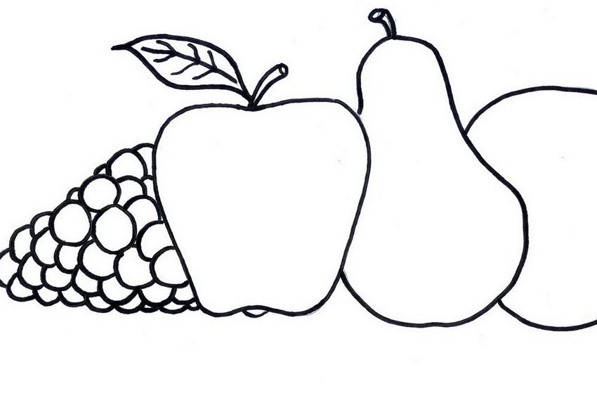 Dibujos bodegon de frutas