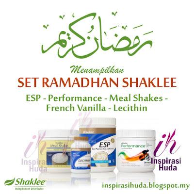 set ramadhan, shaklee, meal shakes, lecithin, esp, perfomance, vitamin, suplemen, puasa, cergas, kenyang, inspirasihuda