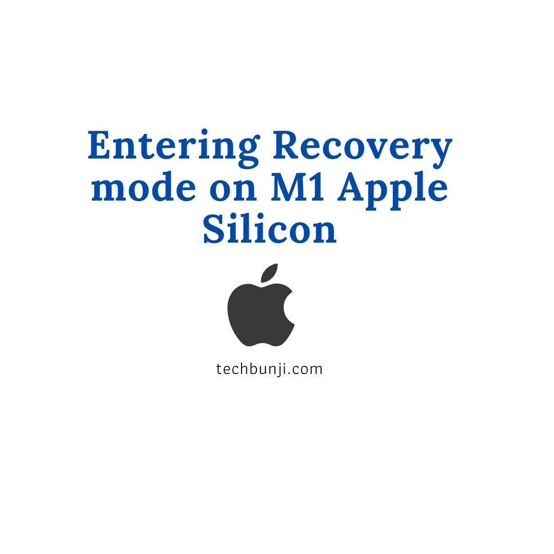 Entering Recovery mode on M1 Apple Silicon