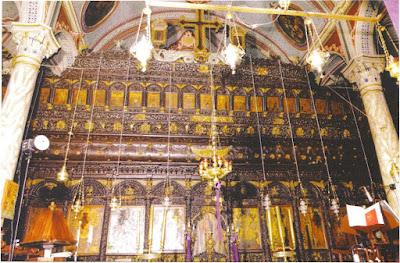 6. Το θαυμάσιο ξυλόγλυπτο τέμπλο του Ιερού Ναού Αγίου Προκοπίου Ιππείου Λέσβου.