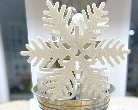 Decorate a Tiered Tray in a Snowflake and Winter Theme