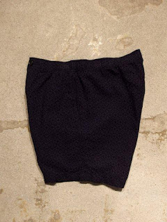 Engineered Garments Long Beach Short in Navy Geo Jacquard