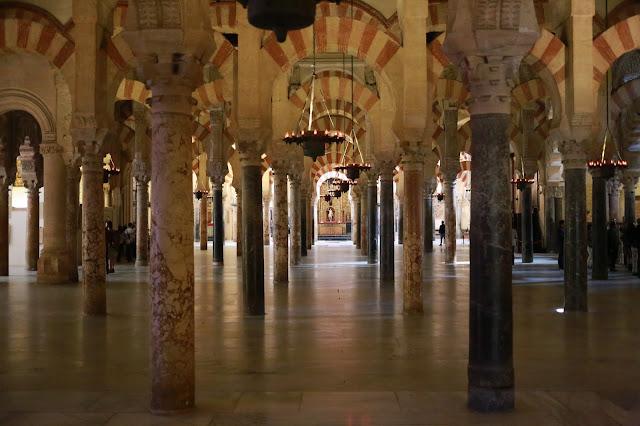 Fotografía del Haram de la Mezquita de Córdoba