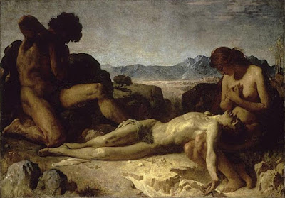 Léon Bonnat, Adam and Eve Mourning the Death of Abel