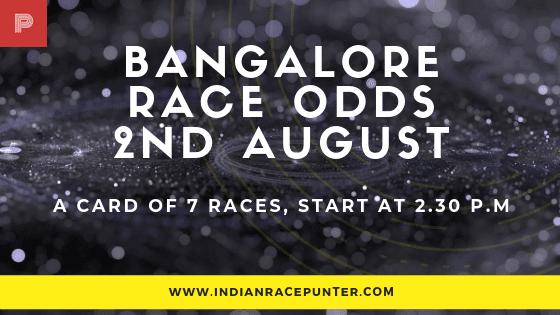 Bangalore Race Odds, free indian horse racing tips, trackeagle,  racingpulse, racing pulse