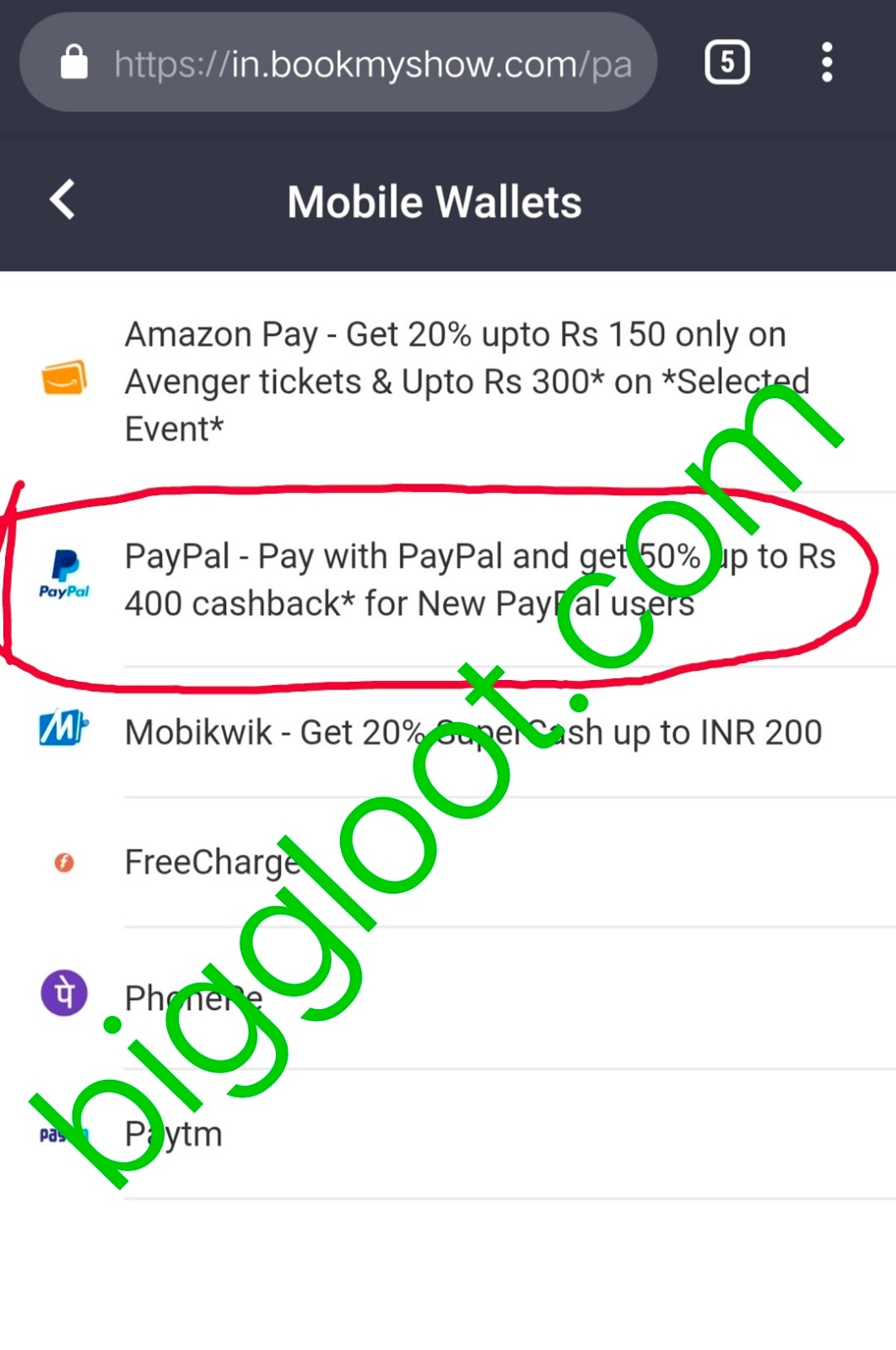 Avengers End Game - Get 50% cashback up to 400 on movie