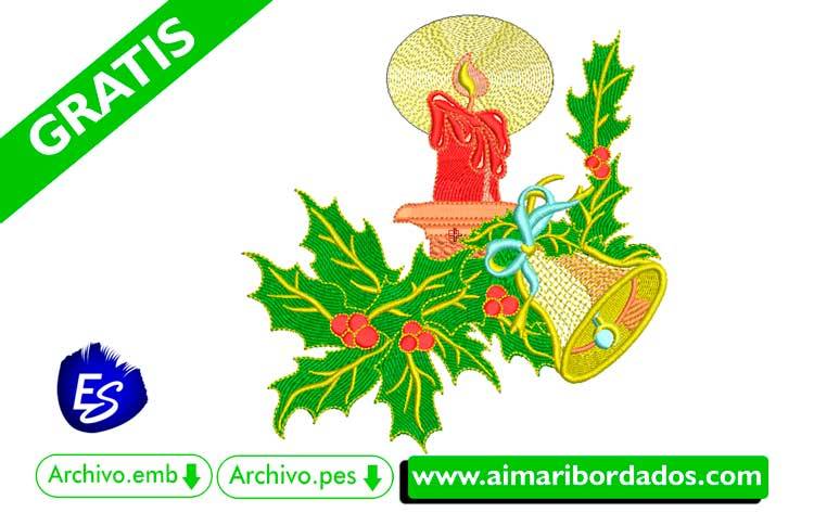 Adorno de navidad para bordar a máquina DESCARGA GRATIS