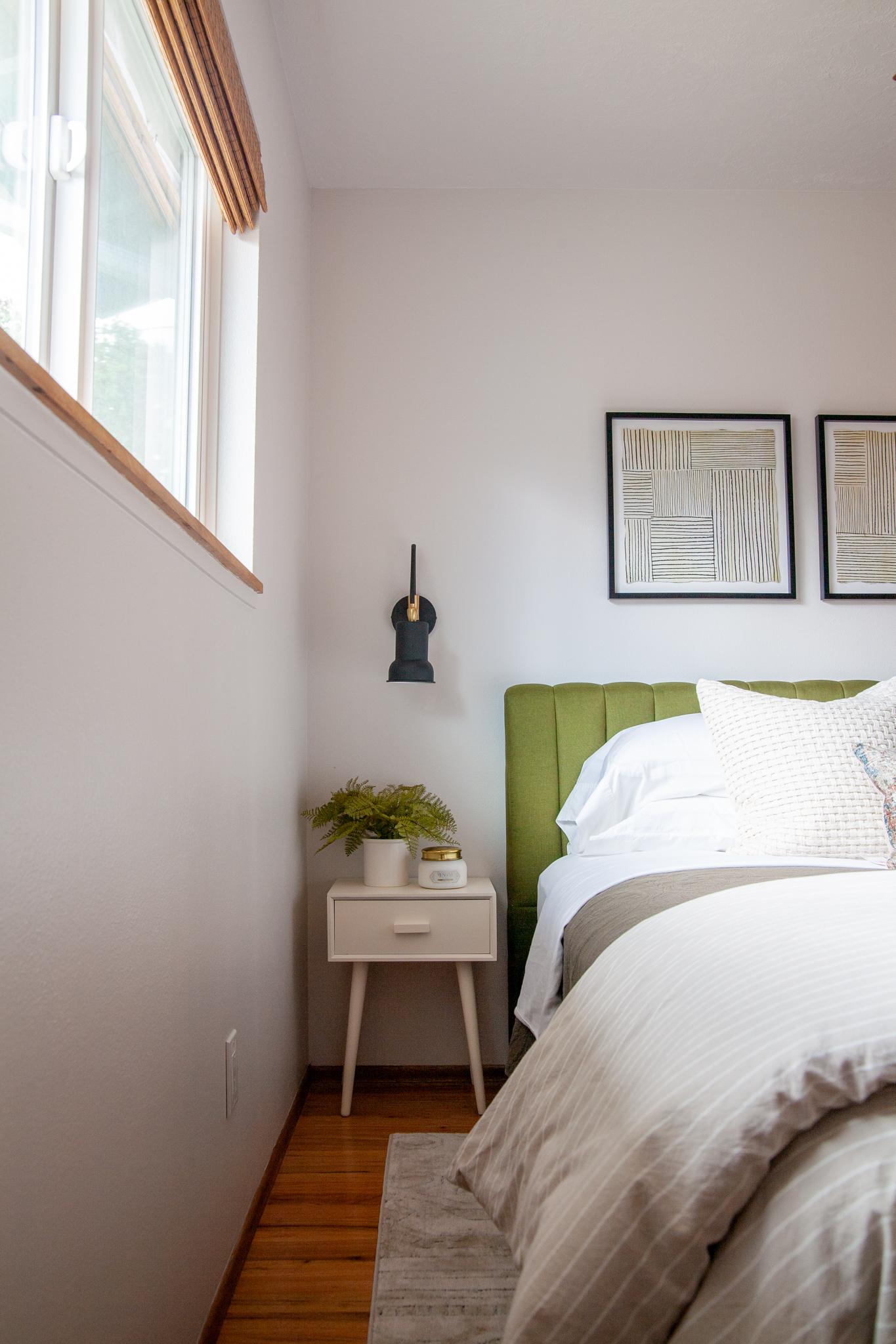 Updated Midcentury Modern Guest Bedroom Reveal One Room Challenge Week 8 Create Enjoy