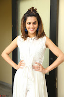 Taapsee Pannu in cream Sleeveless Kurti and Leggings at interview about Anando hma ~  Exclusive Celebrities Galleries 055.JPG