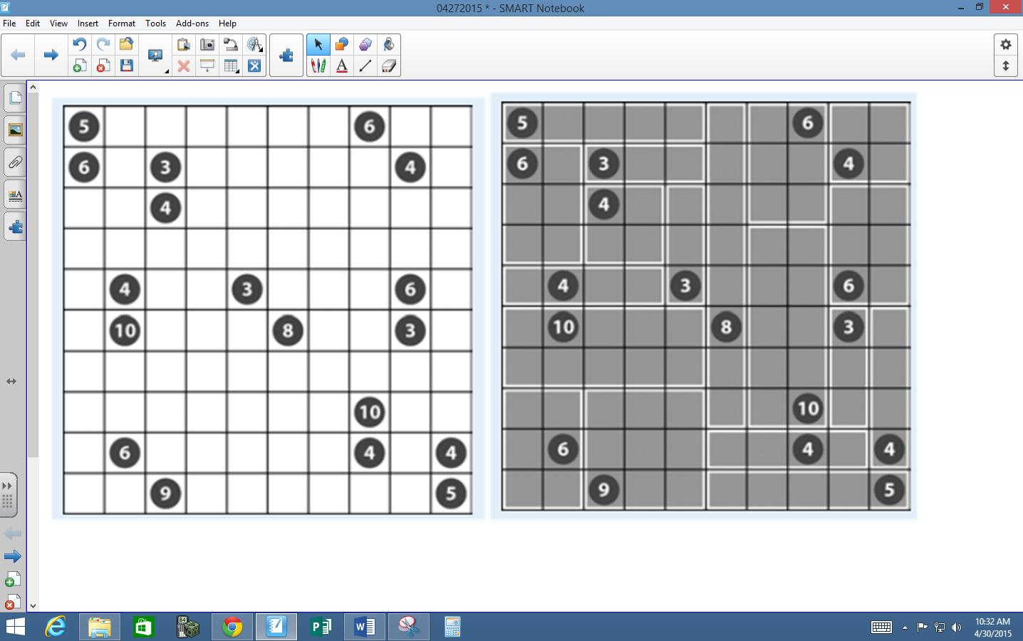 Math Love Logic Puzzle Love Shikaku Edition