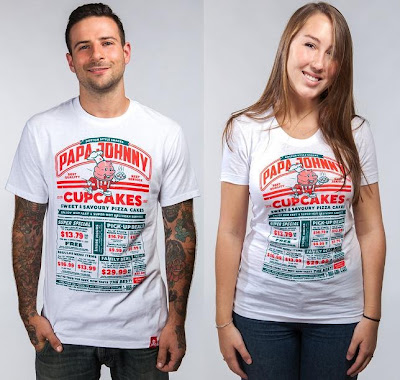 "Johnny Cupcakes x Papa John's Limited Edition ""Papa Johnny"" T-Shirt"