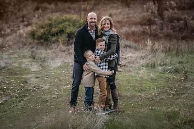 Holiday family photos in San Diego CA by Morning Owl Fine Art Photography.