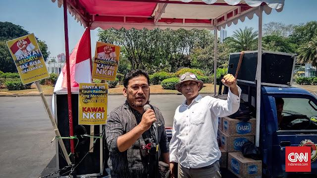 Aksi Dukung Jokowi Dihadiri Puluhan Orang