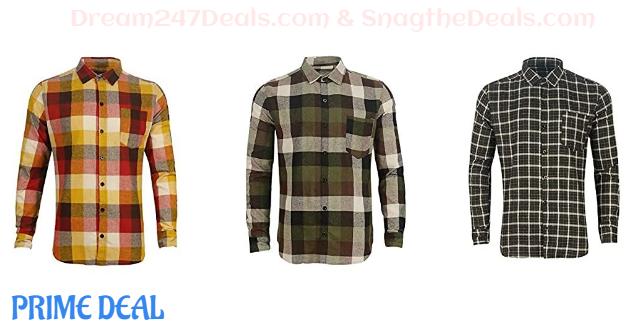 75% OFF Men's Long Sleeve Plaid Flannel Winter Warm Shirt