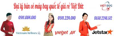 Đại lý bán vé máy bay quốc tế giá rẻ Việt Đức