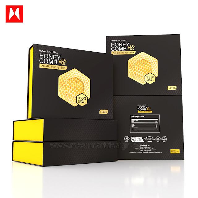 design kotak madu sarang