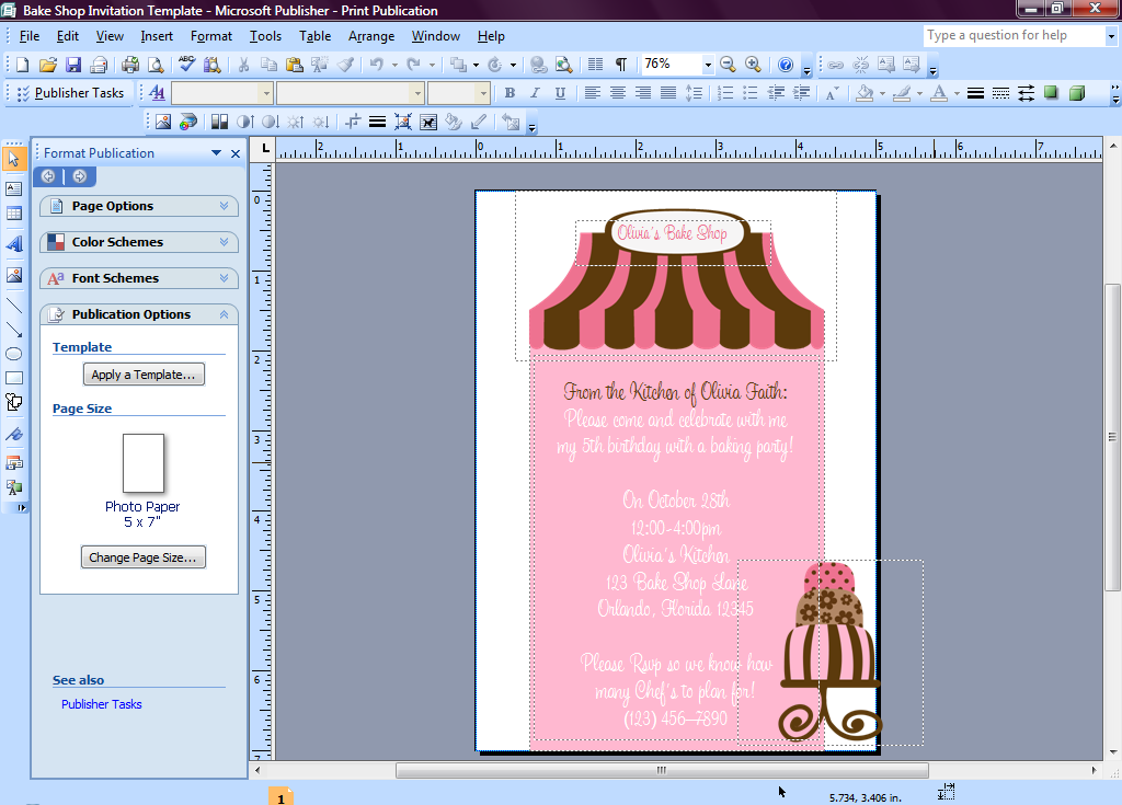 Invitation template publisher resumelist invitation template publisher word invitation stopboris Choice Image