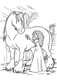 Horse With Beauty Princes Coloring Sheet