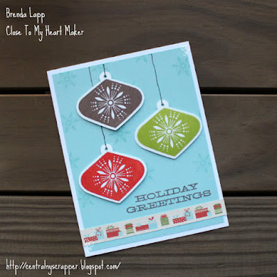 card created with White Pines and Miracle of Christmas
