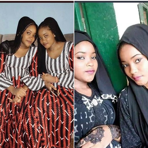 Photos Of Excited Zamfara Twin Sisters After Being Released By Kidnappers