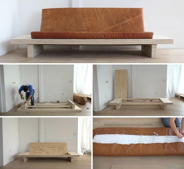 Diseños de Sofás de Madera para realizar en casa