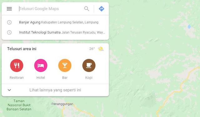 Cara Mencari Tempat Wisata terdekat dengan google maps