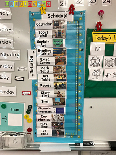 Visual Schedule for Kindergarten