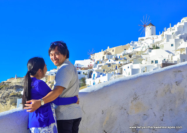 Lady and Ed in Santorini
