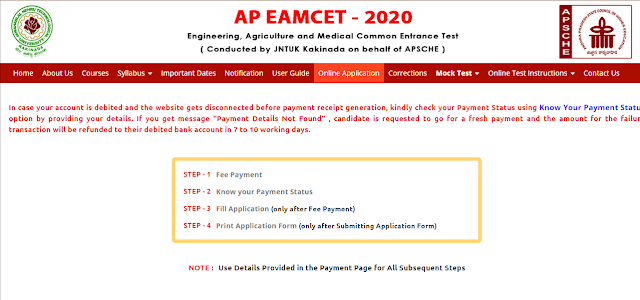 AP EAMCET 2020 Application form Exam Dates Pattern Notification